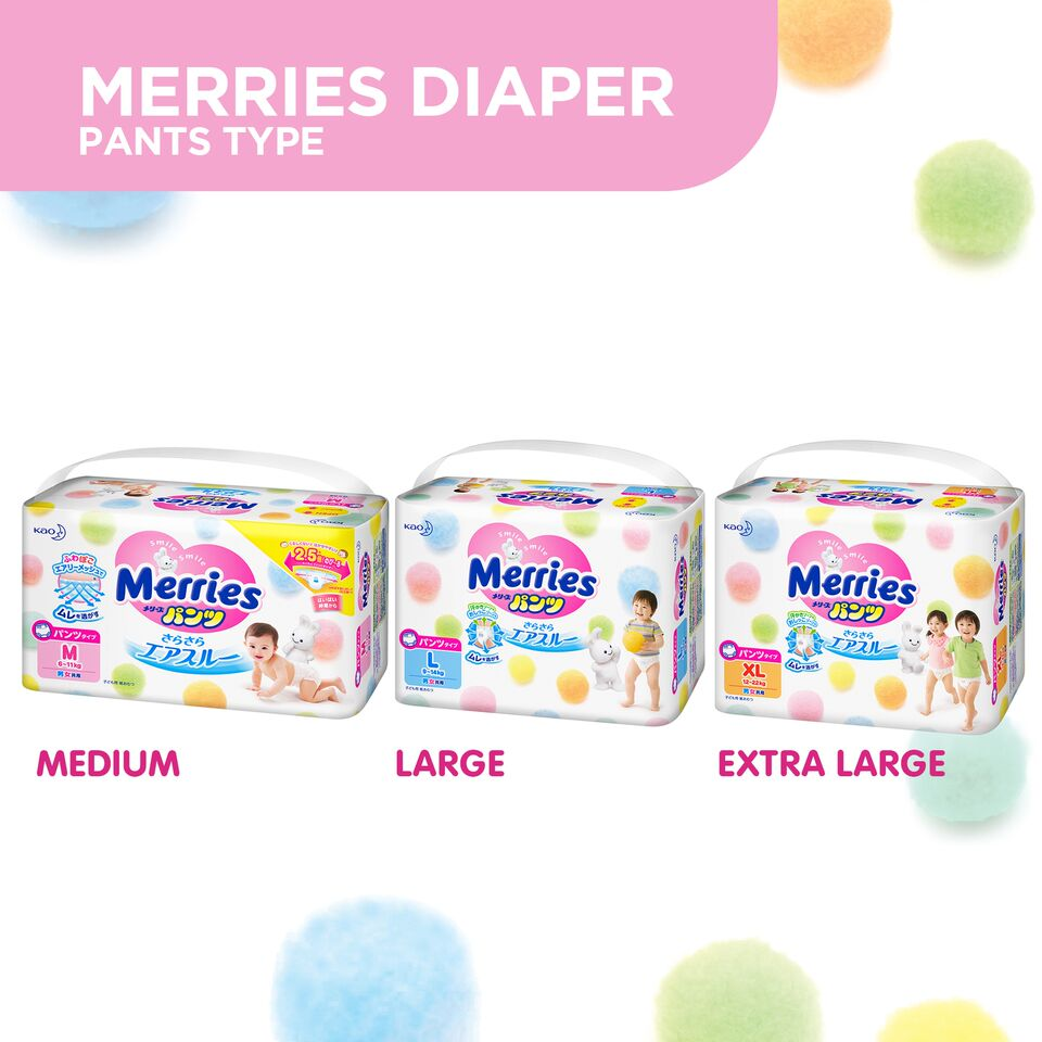 Merries Japans 1 Diaper Brand Is Now In The Philippines Baby Diapers New Born 24 S Are Available Tape Type For Newborns To Toddlers Up 14kg And Pants Kids From 6 22 Kg