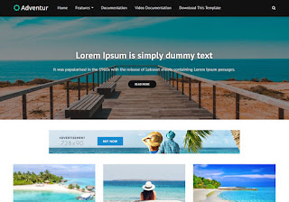 Adventur Blogger Template