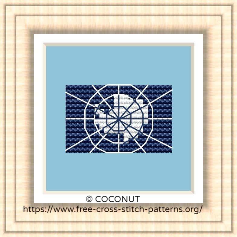 NATIONAL FLAG OF ANTARCTICA CROSS STITCH CHART