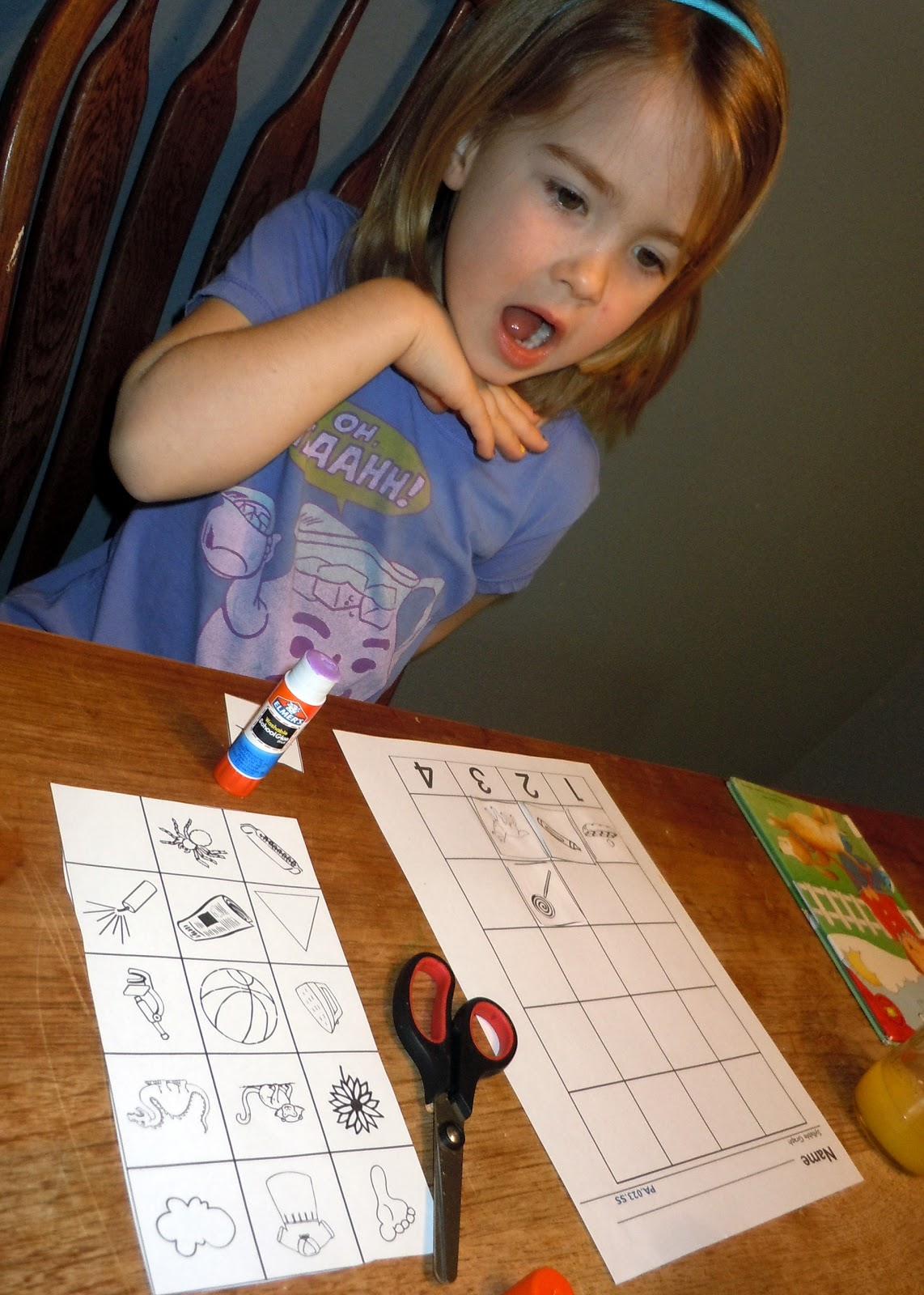 Adventures At The Kitchen Table Syllable Sort