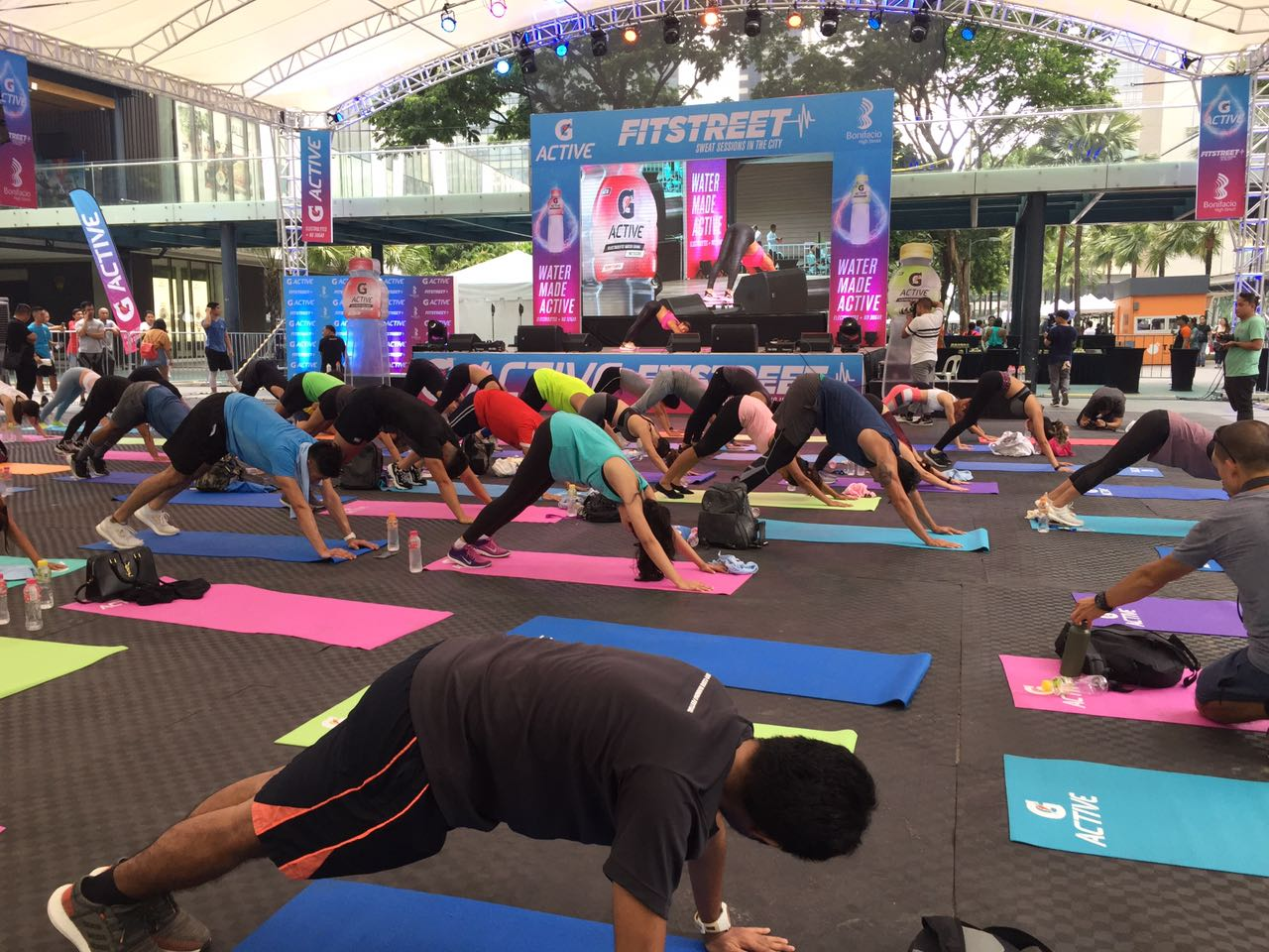 The G Active workout party with celebrities and guests at Fitstreet 2019.