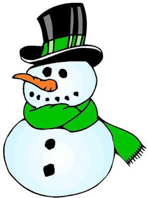 Dibujo de un muñeco de nieve a colores