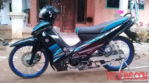 Vega ZR Modif Simple Hitam