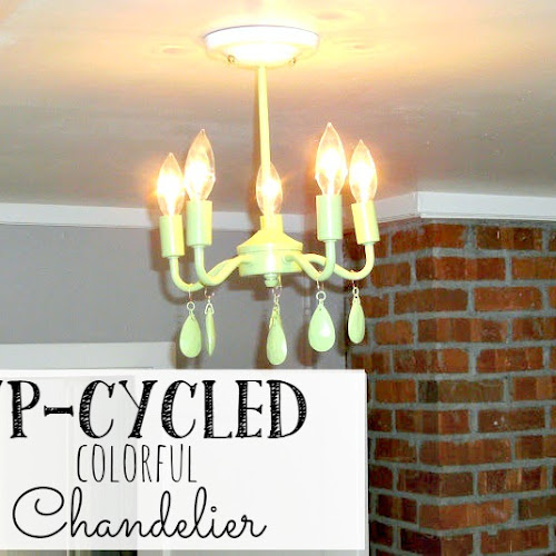 Up-cycled Colorful Chandelier