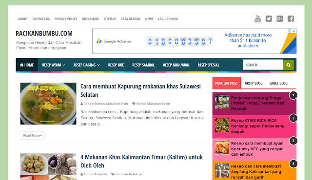3 Blogger Template Free untuk Para Pemula dan Cara Edit HTMLnya