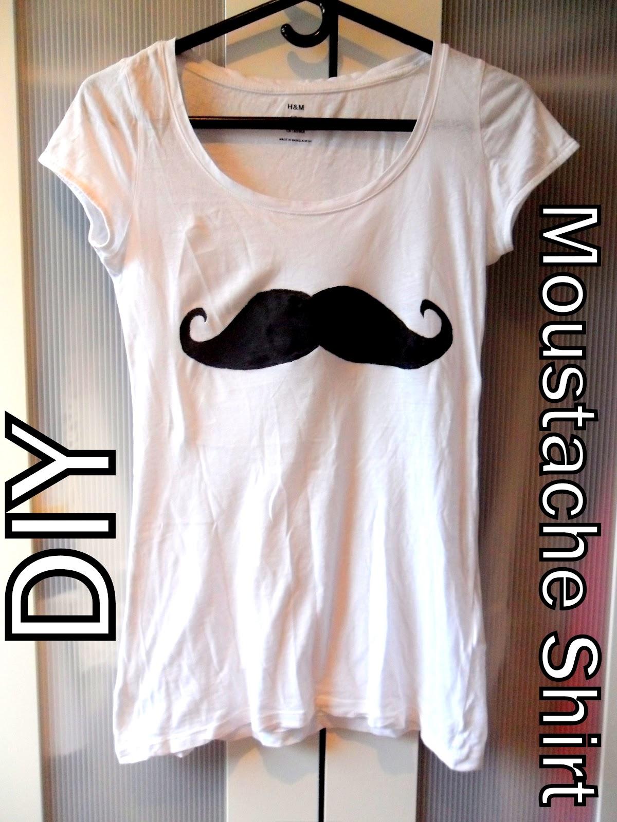 DIY moustache t-shirt | DIY tutorials by Kate