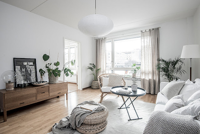 Cute and elegant scandinavian interior
