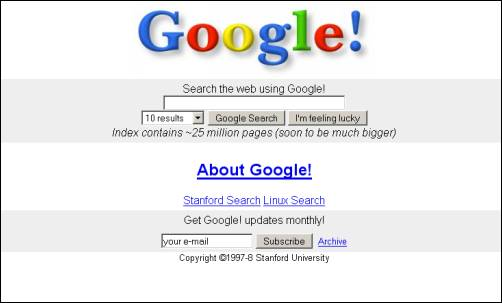 google home page design. original google homepage in 1997 home page design e