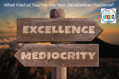 What Kind of Teacher Are You:  Excellent or Mediocre?