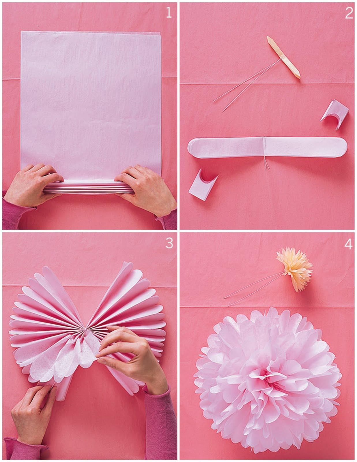Помпоны из бумаги своими руками мастер класс фото 5
