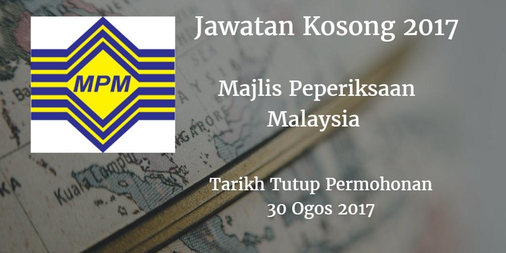 Jawatan Kosong MPM 30 Ogos 2017