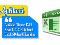 Download Aplikasi Raport K-13 SD-MI Kelas 1,2,3,4,5, dan 6