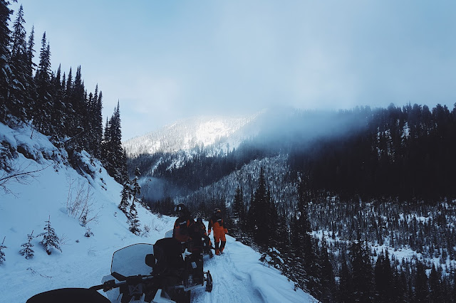 Full Day Kicking Horse Snowmobile Tour By Rocky Mountain Riders