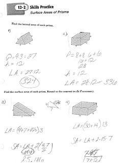 Math Classes Spring 2012: Geometry HW Quiz 12.2