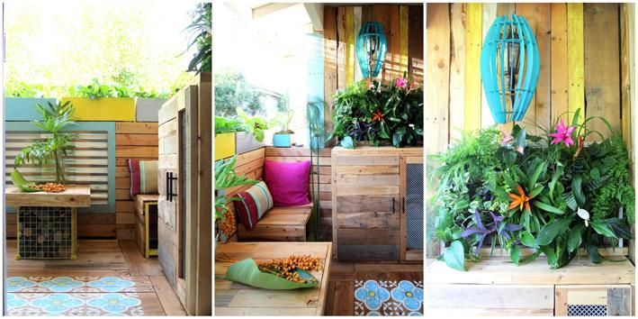 Deco el antes y despu s de una terraza el blog de laucreativa - Decorar paredes de terrazas ...