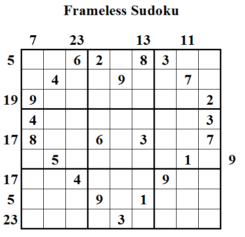Frameless Sudoku (Daily Sudoku League #24)