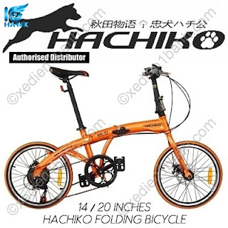 xe đạp gấp Hachiko nhật bản phiên bản hot nhất năm 2018