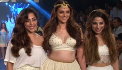 Aditi Rao Haidari Hot Show in Bikini Top On Ramp