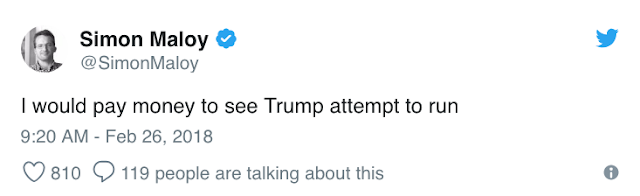 Feb 26 @SimonMaloy responding to Trump bragging that he would run into a school if their was a shooter