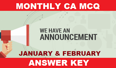 Error Free Answer Key - Monthly CA MCQ January & February 2018