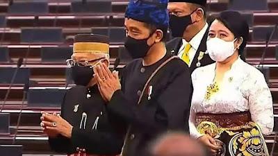 Sidang Tahunan MPR 2021, Presiden Jokowi Pakai Baju Adat Suku Baduy Banten
