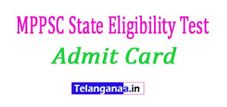 MPPSC State Eligibility Test (SET) Admit Card 2017