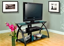 Black Glass Futura TV Stand by Calico Designs