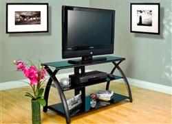 Black Glass Futura TV Stand by Calico Designs