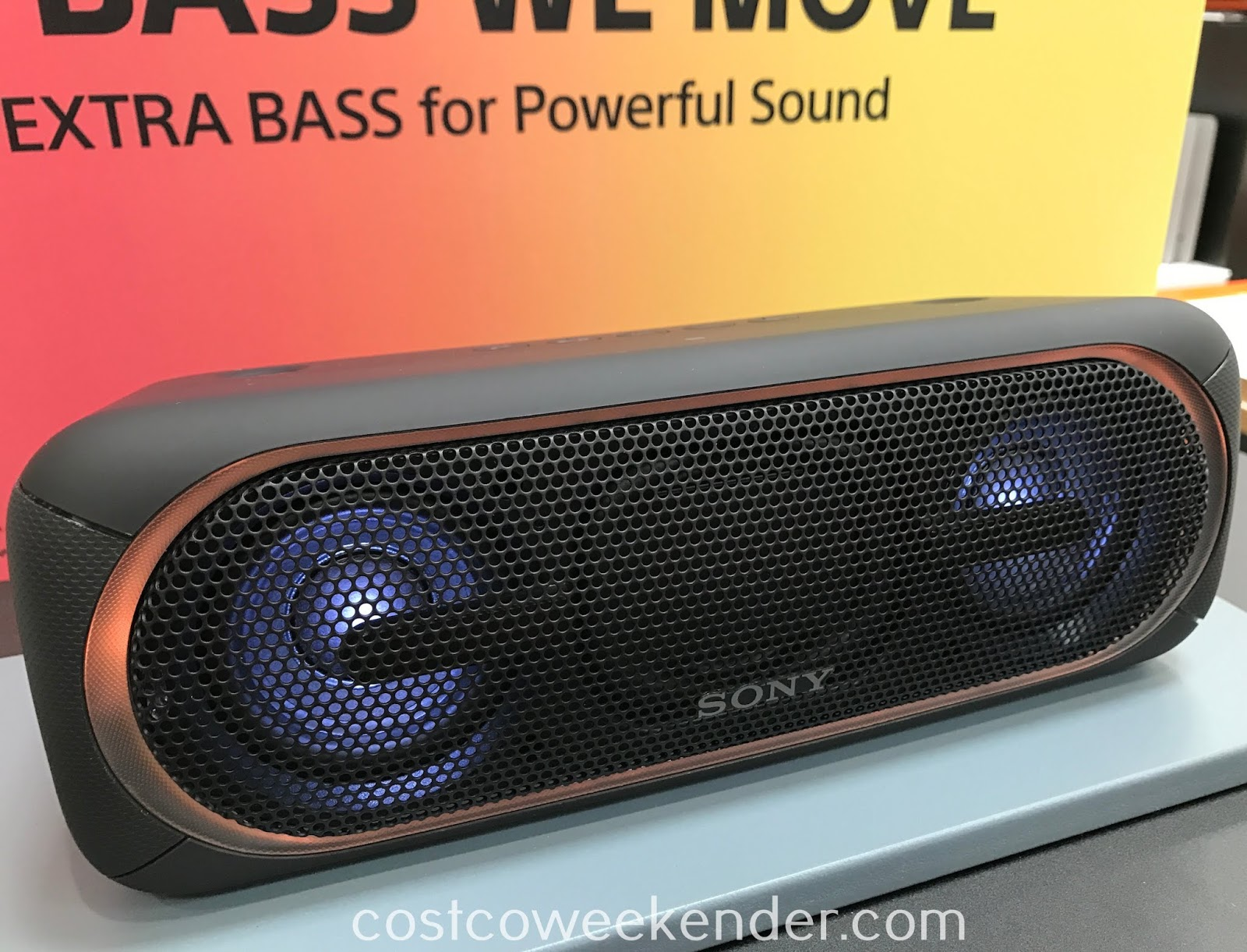 Listen to your favorite songs from your smartphone with the Sony SRS-XB40 Wireless Speaker