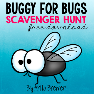 FREE Bug Scavenger Hunt Do you take your students outdoors to learn? You should! Students LOVE exploring nature! Give students clipboards and bug scavenger hunt sheets and have them explore outside to see how many different bugs they can find. Space is provided for students to add other creepy crawlies they find too! Take learning outside! #freebies #seasons #science #kindergarten #1stgrade #bugs #scavengerhunt