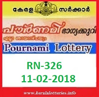 POURNAMI (RN-326) LOTTERY RESULT ON FEBRUARY 10, 2018