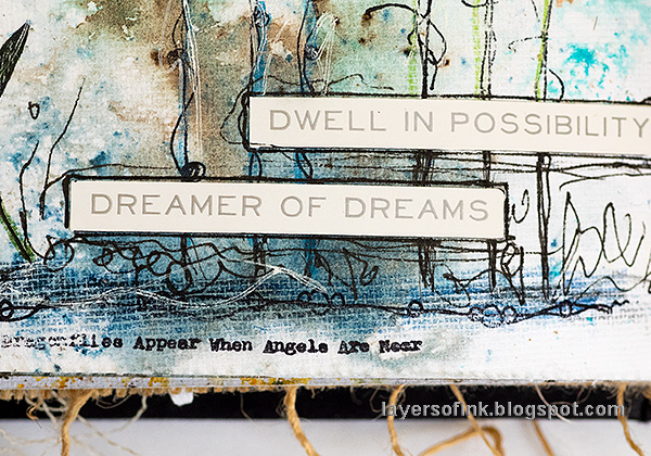 Layers of ink - Butterflies and Dragonflies Tutorial Art Journal Page by Anna-Karin Evaldsson.