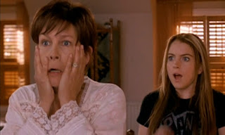 Scene from 2003 Disney film 'Freaky Friday' with Lindsay Lohan and Jamie Lee Curtis.