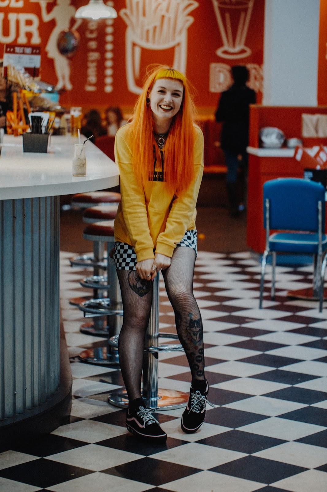 Alternative Fashion Blogger Foxxtailz Styles NICCE Hoodie