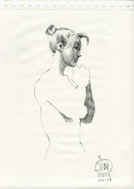 Life drawing sketch by David Meldrum 20130409