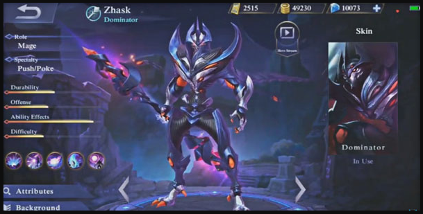 Hero Zhask Mobile Legends