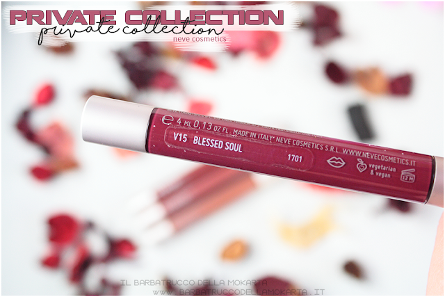 blessed soul vernissage  gloss neve cosmetics , private collection review recensione