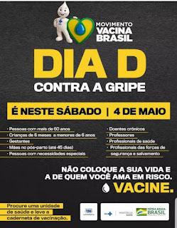 Dia D da Campanha de Vacinação contra a Gripe acontece neste sábado (04)