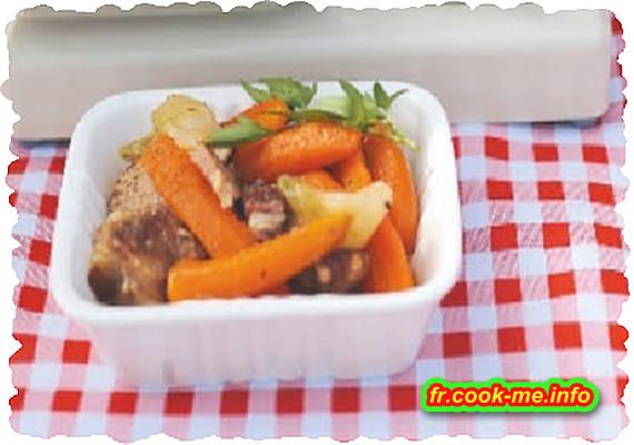 Porc aux carottes primeurs