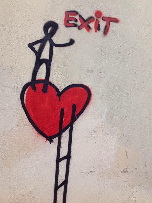 Firenze, Graffiti, Streetart, Exit Love, Love Exit, Jakobsleiter