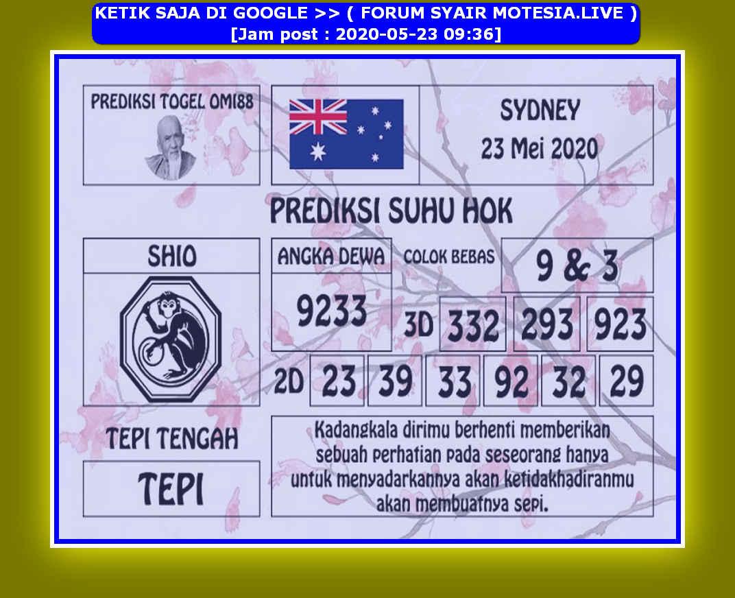 Kode syair Sydney Sabtu 23 Mei 2020 145