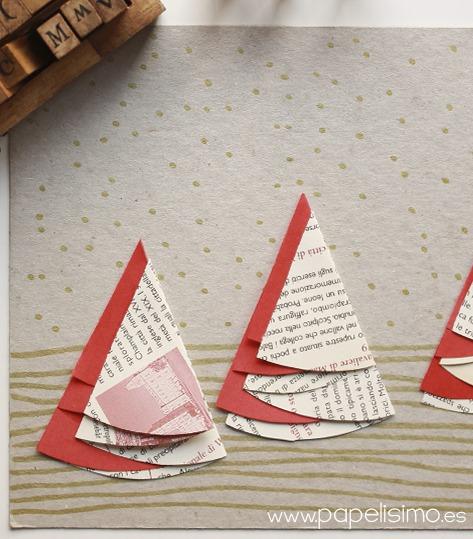 7 ideas de packaging navideño: tarjetas hechas a mano | http://bizcochosysancochos.blogspot.com/
