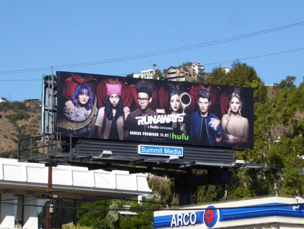 Marvel Runaways season 1 billboard