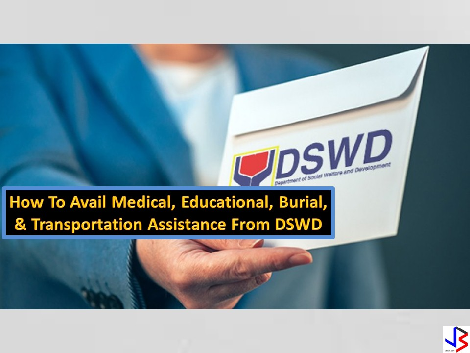 "The Department of Social Welfare and Development (DSWD) offers different types of assistance to those in need which include the Assistance to Individuals in Crisis Situations (AICS).  Under AICS, the DSWD provides medical, educational, burial and transportation assistance to persons/families in crisis situations, specifically those belonging to the informal sector and other poor, marginalized, vulnerable, and disadvantaged individuals.DSWD observes ""No Noon Break Policy"" and caters clients from 8:00 am to 5:00 pm straight. But before going, be sure to complete your needed requirements to avoid problems.  The ideal processing time is 50 minutes maximum per client exclusive of the waiting/queueing time.  Applicants for AICS may proceed to the Crisis Intervention Unit of the DSWD Central Office, DSWD Field Offices in their respective areas, or satellite offices located at the local government unit."