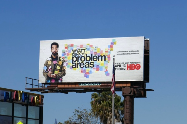 Wyatt Cenac Problem Areas HBO billboard