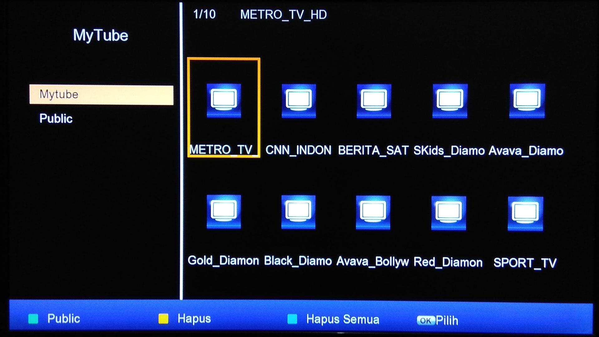 Cara Input IPTV di Matrix Burger S2 Nonton dari Receiver