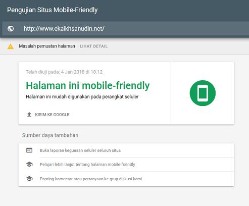 Apakah Tampilan Template Blog Saya Sekarang Sudah Responsive / mobile friendly ?