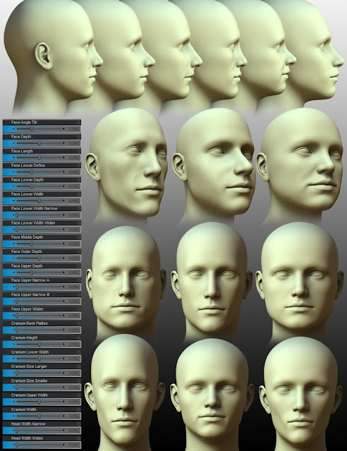 200 Plus - Head Face Morphs for Genesis 3 Male