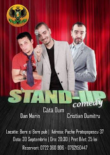 Stand-Up Comedy Vineri 30 septembrie Bucuresti