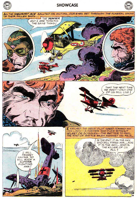 Showcase v1 #57 Enemy Ace dc comic book page art by Joe Kubert
